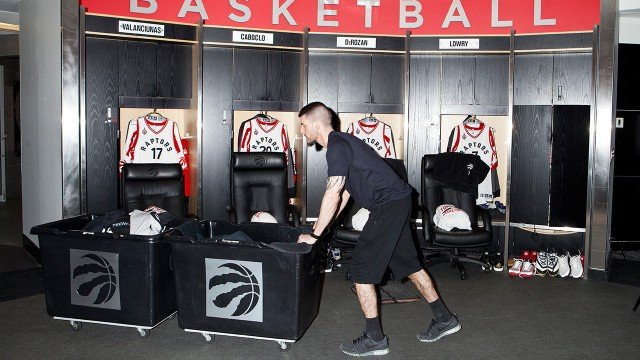 A day in the life of the Raptors' equipment staff
